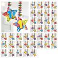Spiral-Deckenhänger mit Zahl