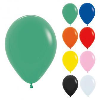 Einfarbige Luftballons Kunterbunt 8er Pack