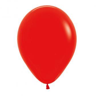 Einfarbige Luftballons Kunterbunt 8er Pack-rot