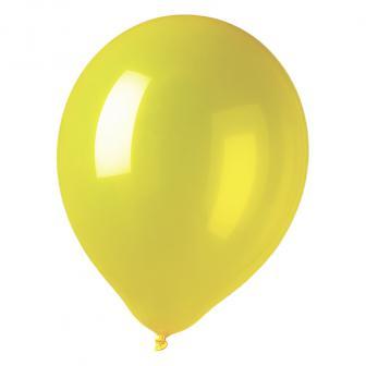 Einfarbige Luftballons 12er Pack-gelb