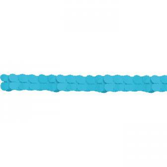 Einfarbige Wabenpapier-Girlande 360 cm-türkis