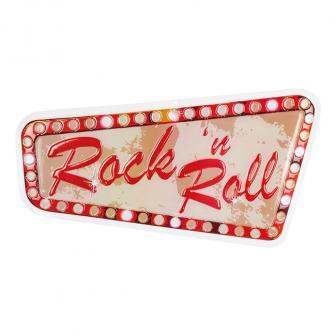 """3D-Wanddeko """"Rock 'n' Roll"""" Party 58 x 33 cm"""