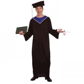 Kostüm Absolventen Toga und Hut 2-tlg.