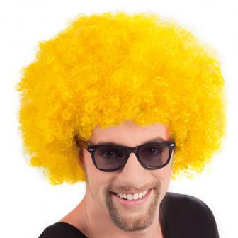 Afro Perücke-gelb