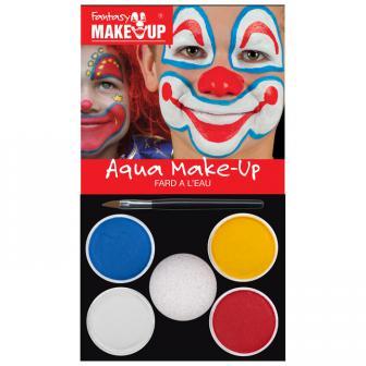Aqua-Schminkset Clown 6-tlg.