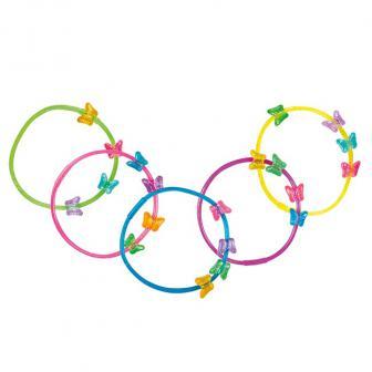 """Armbänder """"Bunte Schmetterlinge"""" 5er Pack"""