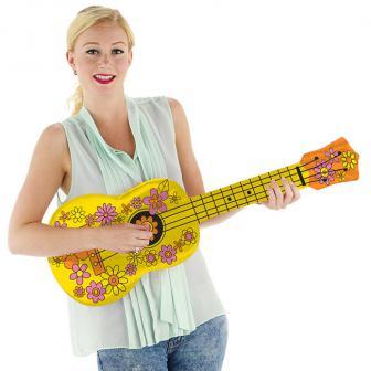 Aufblasbare Hippie-Gitarre 80 cm