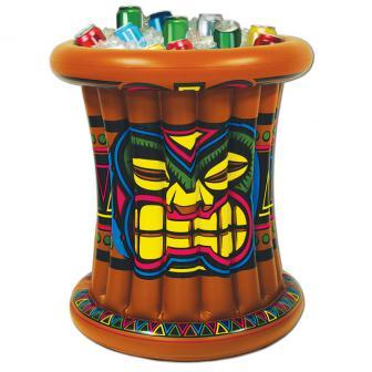 """Aufblasbarer Tisch-Getränkekühler """"Tiki Maske"""" 64 x 56 cm"""