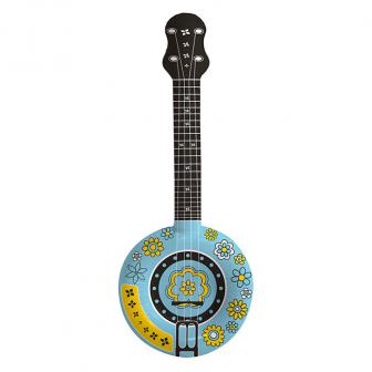 Aufblasbares Hippie-Banjo 88 cm