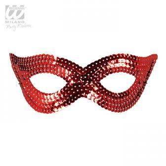 """Augenmaske mit Pailletten """"Glamour""""-rot"""