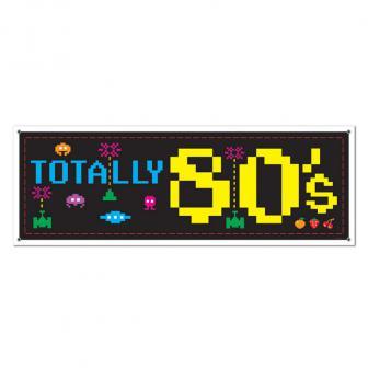 """Banner """"80er Jahre Style"""" 152 cm"""