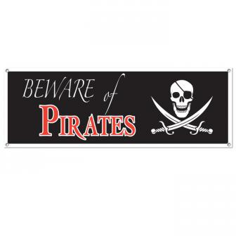"Banner ""Beware of Pirates"" 1,5 m"