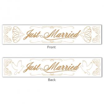 """Banner """"Just married"""" 13 x 70 cm"""