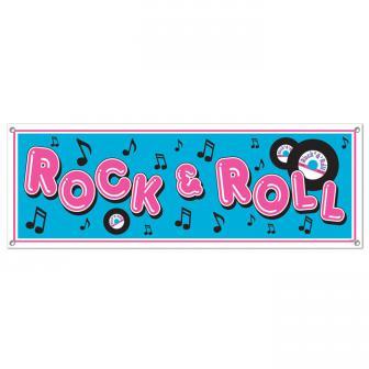 "Banner ""Rock 'n' Roll"" 1,5 m"