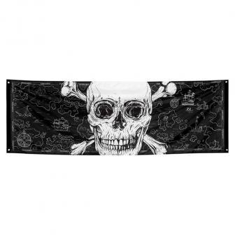 "Banner ""Totenkopf des Grauens"" 220 x 74 cm"