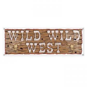 """Banner """"Wild Wild West"""" 1,5 m"""