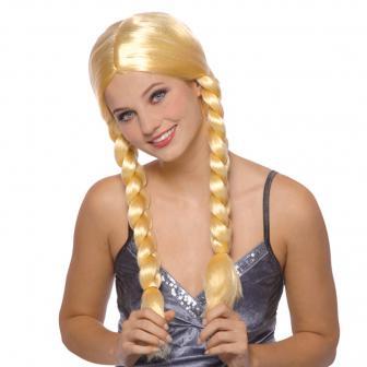 Blonde Perücke mit Zöpfen