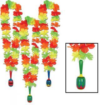 "Blumenkette ""Fiesta Mexiko"" mit Maraca-Rassel 91 cm"