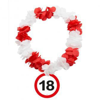 """Blumenkette """"Verkehrsschild 18. Geburtstag"""""""
