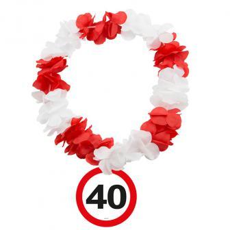 """Blumenkette """"Verkehrsschild 40. Geburtstag"""""""