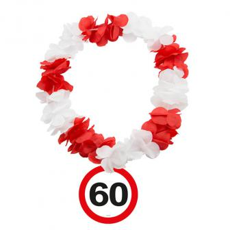 """Blumenkette """"Verkehrsschild 60. Geburtstag"""""""
