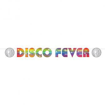 "Buchstaben-Girlande ""Disco-Fever"" 3,66 m"