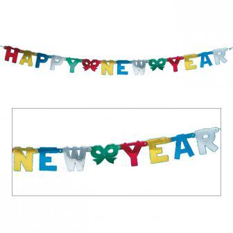 """Buchstaben-Girlande """"Happy New Year"""" 156 cm"""