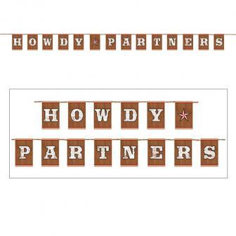"Buchstaben-Girlande ""Howdy Cowboys"" 3,65 m"