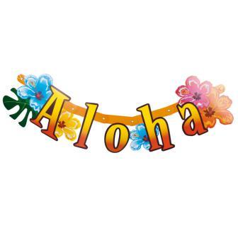 """Buchstabengirlande """"Aloha und Flamingo"""" 83 cm"""