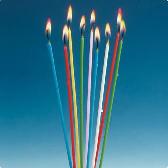 Bunte Spaghetti-Kerzen 18er Pack 20 cm