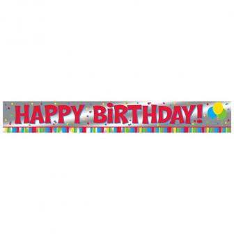 "Bunter Folien-Banner ""Happy Birthday"" 183 cm"