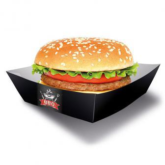 """Burger-Schalen """"BBQ Time"""" 4er Pack"""
