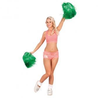 Einfarbiger Cheerleader-Pompom-grün