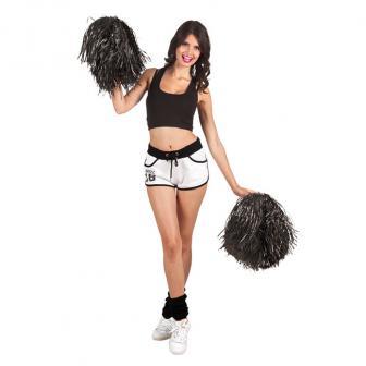 Einfarbiger Cheerleader-Pompom-schwarz