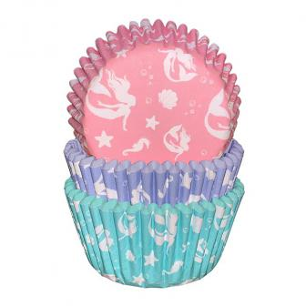 """Cupcake-Förmchen """"Meerjungfrau"""" 75er Pack"""