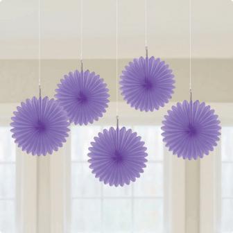 Deckendeko Blüte aus Wabenpapier 15 cm 5er Pack-lila