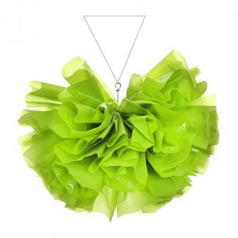Deckendeko einfarbiger Halbball aus Folie 35 cm-grün
