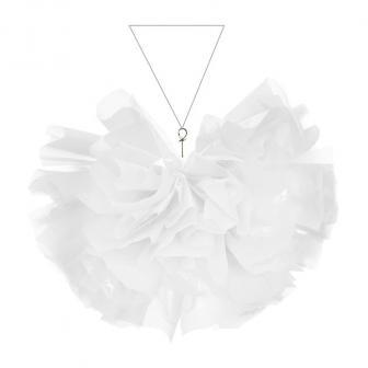 Deckendeko einfarbiger Halbball aus Folie 35 cm-weiß