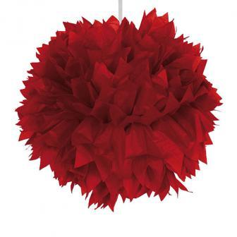 """Deckendeko """"Pom-Pom aus Wabenpapier"""" 30 cm-rot"""