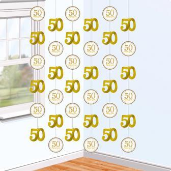 """Deckenhänger """"50 Happy Years"""" 6er Pack"""