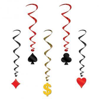 "Deckenhänger ""Casino-Style"" 5-tlg."
