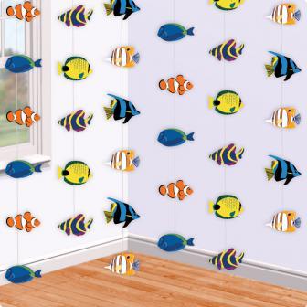 Deckenhänger Exotische Fische 213 cm 6er Pack