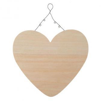 Deko-Herz aus Holz 24 cm