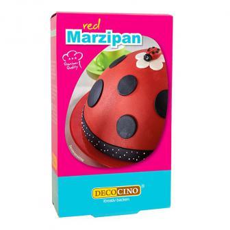 Dekor-Marzipan 200 g-rot