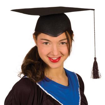 Doktor-Hut für Absolventen schwarz