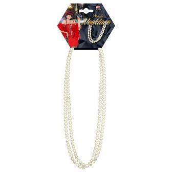Edle Perlenkette weiß 70 cm