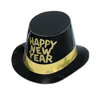 "Edler Zylinder ""Happy New Year""-gold"