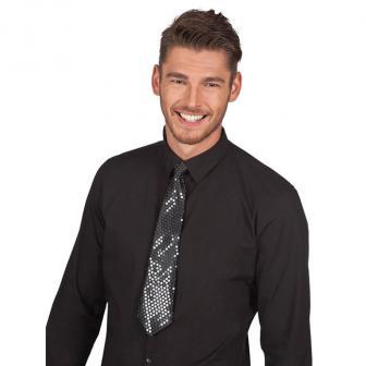 Edle Pailletten-Krawatte -schwarz