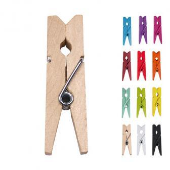 Einfarbige Deko-Klammern 12er Pack