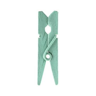 Einfarbige Deko-Klammern 12er Pack-mint-grün